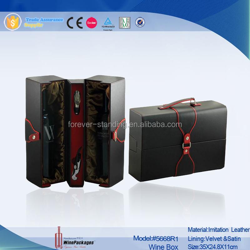 Trade Assurance custom luxury leather gift box packaging box