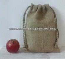 Naturaleza yute arpillera bolso de lazo de regalo