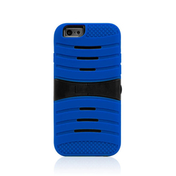 PC Silicone Hybrid Full Protective Dual Layer Case For Iphone 6 silicon Kickstand Mobile Phone Cases
