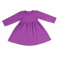 2015 girls summer plain frock design blank girls long sleeve dresses