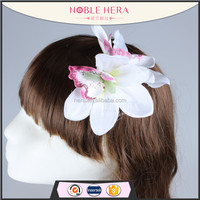 Noble Hera 45R09DDY Large artificial orchid alligator hair clips