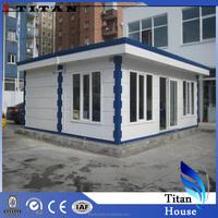 Light Steel Prefabricated Fiberglass Kiosk Houses of High Quality