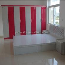 2015 pvc plastic sheet/board for furniture