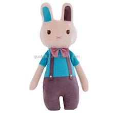 Custom plush rabbit toys giant vested animal toy