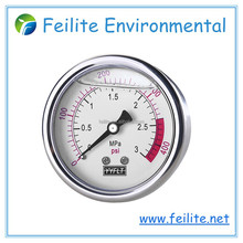 Feilite liquid filled pressure gauge