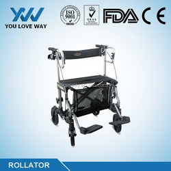 super light 2.0mm thickness aluminum frame rolling walker buying guide for hospital