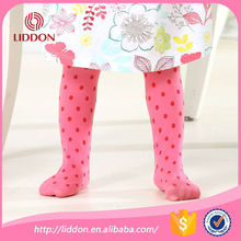 baby wearing tights printed silk sockings with customized cute design