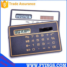 mini super thin solar credit card size calculator