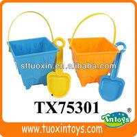 kids plastic beach buckets and spades