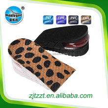New shoe sole design high sole shoes for men to buy blue velvet unisex air cushion height increase PVC insoles for shoes