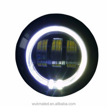 Newest 4.5 inch passing light with halo ring motorcycle led light for harley davidson