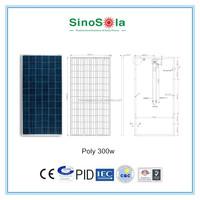 250w pv module poly solar panel for solar power system big power plant with TUV/PID/CEC/CQC/IEC/CE