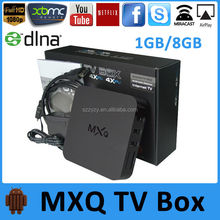 MXQ Arabic IPTV Set Top Box Android 4.4 Amlogic S805 Quad Core 1.5GHz 1GB/8GB FHD 1080P H.265 Miracast DLNA Netflix XMBC TV Box