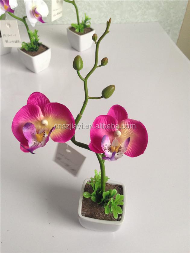 haute qualit mini pot papillon orchid e fleur pas cher en gros artificielle fleurs bleu royal. Black Bedroom Furniture Sets. Home Design Ideas