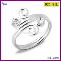 Fashion Jewelry Sterling Silver Pearl Ring Settings