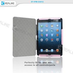 Fashionable slim rugged protective case for ipad mini,form-fitting for ipad mini stand folio case