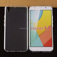 Low price china mobile phone soft tpu silicone transparent clear crystal cases tpu case for honor 4a wholesale alibaba