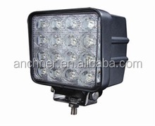 2015 hot sale led spot light 12v for offroad 4x4 car 4wd truck atv suv 48w led work light