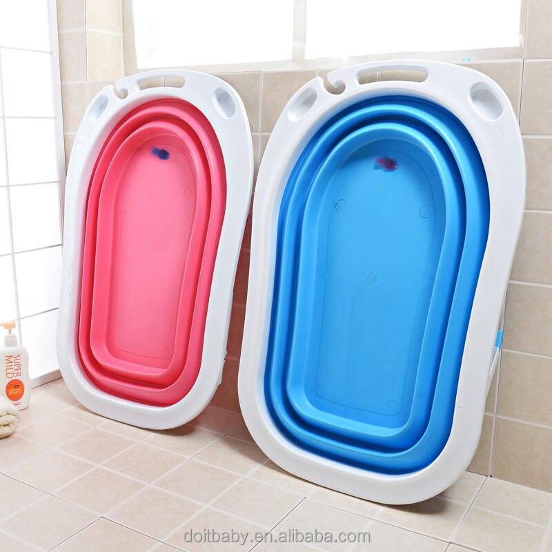 Kids Folding Portable Bathtub Infant Bath Tub Baby Bathroom Products ...