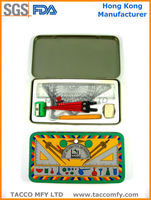 Maths set geometry instrument in metal box for school