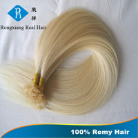 Double Drawn Blonde Hair 100% Human Remy keratin bond hair extension