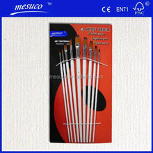 Professional Hotsale Synthetic Artist Brush With Red Wooden Handle