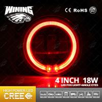 Wining Guangzhou Manufacturer 4inch 18w Angel Eyes Auto Led Fog Lamp for Jeep 4X4 UTV