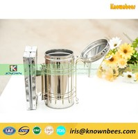 Factory supply popular dermis and leather bee hive smoker for sale