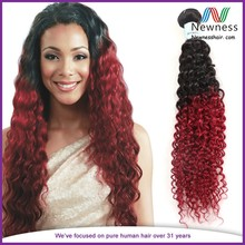 2015hot sell types brazilian hair for black woman two tone hair extension
