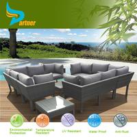Hotel Furniture Classic Import Solid Resin Deep Seating Conversation Set Gary Rattan Sofa Set Large Furniture Sofa