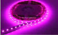 purple color LED strip 5050 SMD 12V flexible light 60LED/m,5m 300LED,waterproof in silicon coating;ip65;white pcb