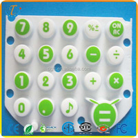 Rubber Silicone Keypad For Calculator