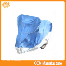 double colour 190t pvc and pp cotton motorcycle cover,rain bicycle cover at factory price