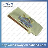 custom unique Enamel 3d brass king metal gold color money clip