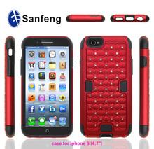 Luxury rhinestone diamond mobile phone case cover for iphone 6