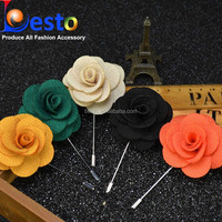 Handmade Men's brooch pin fabric flower brooch