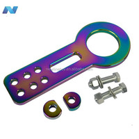New Universal Front Tow Hook Towing Set Anodized Aluminum
