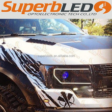 SMD5050 RGB color changing led halo lights for Ford F150 with external driving