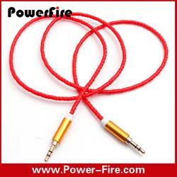 3.5mm male aux audio plug jack to male usb cable, optical wholesale audio cable
