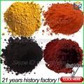 Pigmento rojo/amarillo/negro/verde/azul de óxido de hierro fórmula química para azulejos de cerámica/beton/la fabricación de pintura/baldosas de goma/de asfalto de mezcla