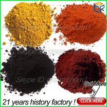 Pigment red/yellow/black/green/blue iron oxide chemical formula for ceramic tiles/beton/making paint/rubber tiles/mix asphalt