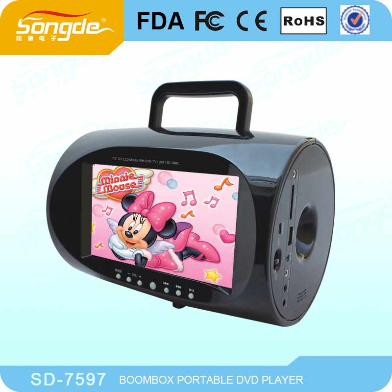 mini lecteur dvd portable enfant avec tv jeu usb sd entr e av dvd portatif joueurs de. Black Bedroom Furniture Sets. Home Design Ideas