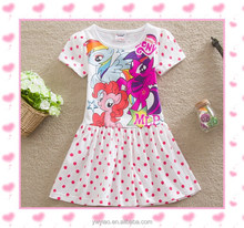 Cartoon character kids clothing long sleeve cotton My little pony dress for baby girl