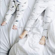 Mayor de los niños Legging resorte del algodón orgánico del pantalón blanco pájaro / Airplane / pingüino impreso niños pantalone