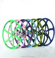 26 Magnesium Alloy 6 spoke bicycle wheel