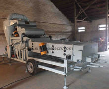 paddy rice seed cleaning machine with thresher and cyclone