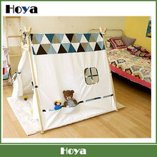 Cotton canvas kids play indian teepee tent