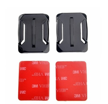 2 x Curved Surface + 2 x Flat Surface Attachment + 4x 3M VHB Double sided adhesive For gopro Hero 1 2 3 3+ 4 Camera