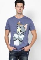 online shopping blue O-neck bulk custom printed tshirts men
