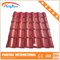 plastic synthetic roof tiles/synthetic spanish roof tile/synthetic resin roof tile for villa
